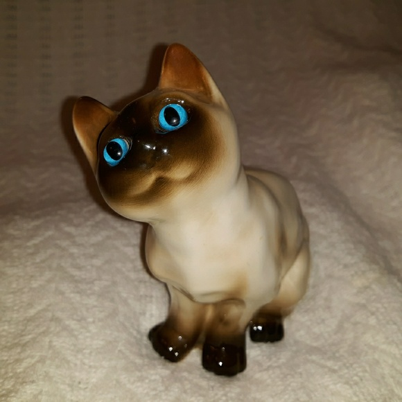 1ad65003820c6 Vintage Enesco Ceramic Siamese Cat Figurine Piggy
